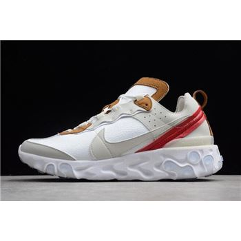 Nike React Element 87 Sail Light Bone White