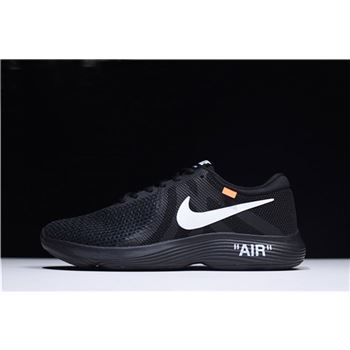 Off-White x Nike Revolution 4 Black Mens and WMNS Size Running Shoes 908988-011
