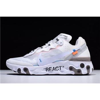 2018 Off-White x Undercover x Nike React Element 87 White/Cone-Ice Blue AQ0068-100