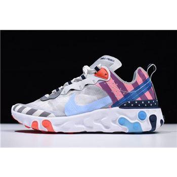 Parra x Nike React Element 87 White/Multi-Color AQ3057-100