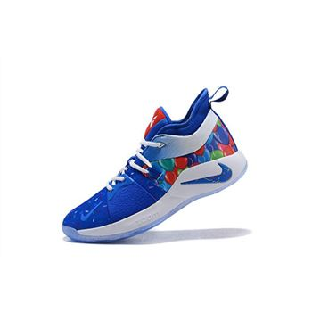 Paul George Nike PG 2 Celebrate Birthday Blue Multi Color