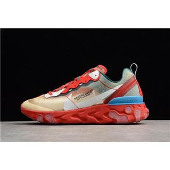 Undercover x Nike React Element 87 Red Light Green Sail
