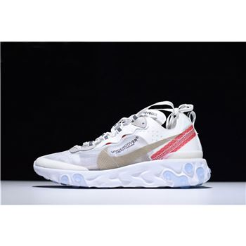 Undercover x Nike React Element 87 White/Cream/Red AQ1813-345