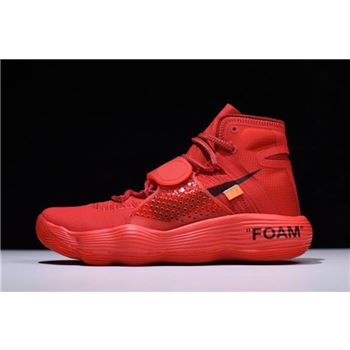 Virgil Abloh Off White x Nike REACT Hyperdunk 2017 Big Red Black Orange