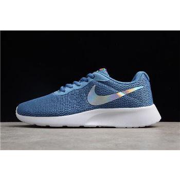 WMNS Nike Tanjun Aluminum Blue/Black-White 812655-406 Free Shipping