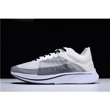 2018 Nikelab Zoom Fly SP White/Black-Summit White Men's and Women's Size AA3172-101