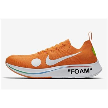 2018 Off White x Nike Zoom Fly Mercurial Flyknit Total Orange White Volt