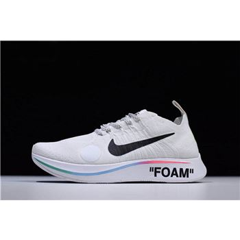 2018 Off White x Nike Zoom Fly Mercurial Flyknit White Shoes