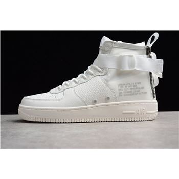 Cheap Nike SF AF1 Mid Triple Ivory AA6655 100 Mens Size Shoes