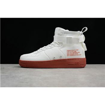 Mens Nike SF AF1 Mid Ivory Mars Stone 917753 100 For Sale