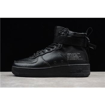 Mens Nike SF AF1 Mid Triple Black