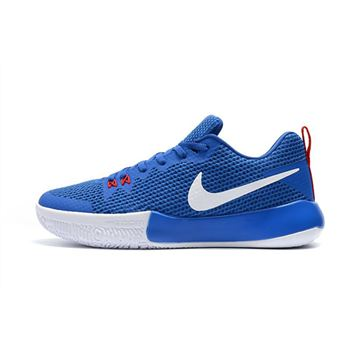 Mens Nike Zoom Live II EP Racer Blue Total Crimson White Basketball Shoes