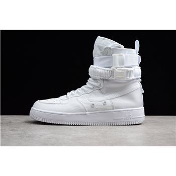 Mens and WMNS Nike SF AF1 High Triple White