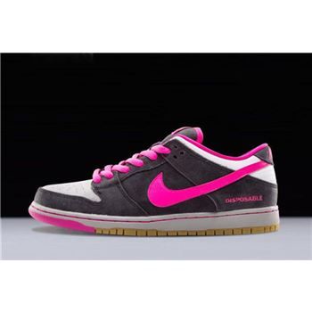 Nike SB Dunk Low Premium QS Disposable Black Pink Foil White