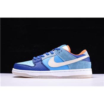 Nike SB Dunk Low Premium QS Mia Skate Shop 10th Year Anniversary Brv Blue Mtlc Gld Str Mnrl Bl