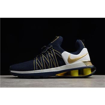 Nike Shox Gravity Midnight Navy Metallic Gold