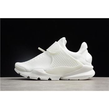 Men's and Women's Nike Sock Dart KJCRD Triple White 819686-100