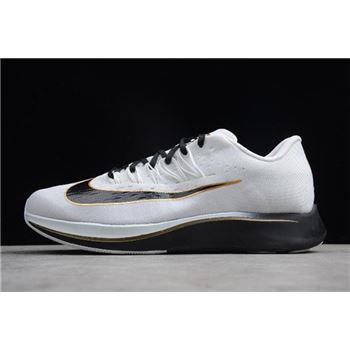 Nike Zoom Fly Mismatched Black White Metallic Gold