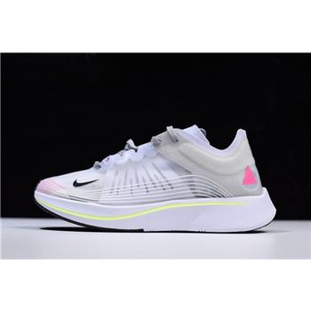 Men's Size Nike Zoom Fly SP BETRUE White/Black-Palest Purple AR4348-105