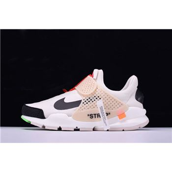 Off White x Nike La Nike Sock Dart White Black