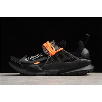 Off White x Nike Sock Dart Black Black Volt Mens Size