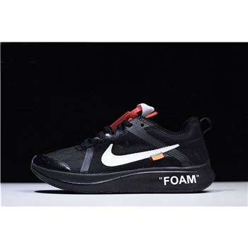 Off White x Nike Zoom Fly Black Mens Running Shoes