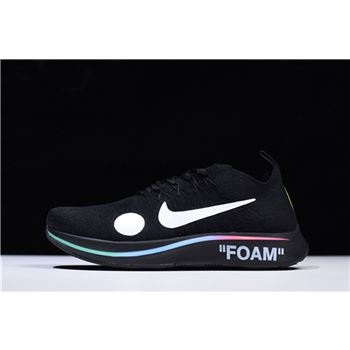 2018 Off-White x Nike Zoom Fly Mercurial Flyknit Black/Volt-White AO2115-001