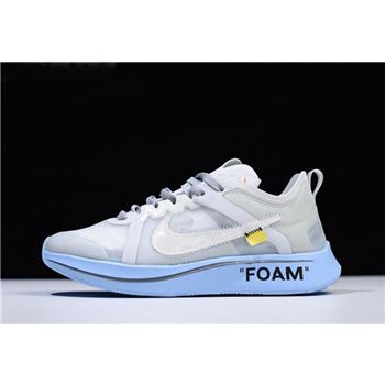 Off White x Nike Zoom Fly SP White Light Blue