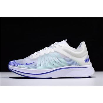 WMNS Nike Zoom Fly SP Royal White/Indigo Burst AJ8229-101 Free Shipping