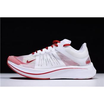 WMNS Nike Zoom Fly SP White/University Red-Summit White AJ8229-100 For Sale