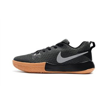 Nike Zoom Live II EP Black Gum Light Brown Mens Basketball Shoes