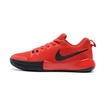 Nike Zoom Live II EP University Red Black Mens Basketball Shoes