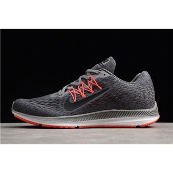 Nike Zoom Winflo 5 Dark Grey Black Red Mens Running Shoes