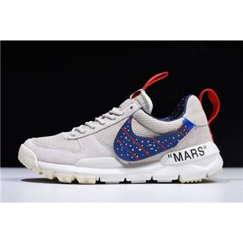 Off White x Moon Landing x Tom Sachs x NikeCraft Mars Yar Grey Blue Gym Red