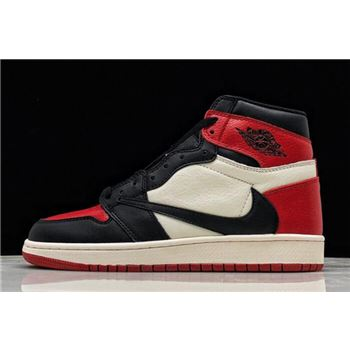 "2019 Travis Scott x Air Jordan 1 High OG ""Bred Toe"" 575441-610"