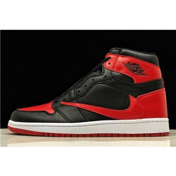 "2019 Travis Scott x Air Jordan 1 High OG ""Banned"" Black/Varsity Red-White 555088-001"