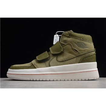 "Air Jordan 1 High Double Strap ""Olive Canvas"" AQ7924-305"