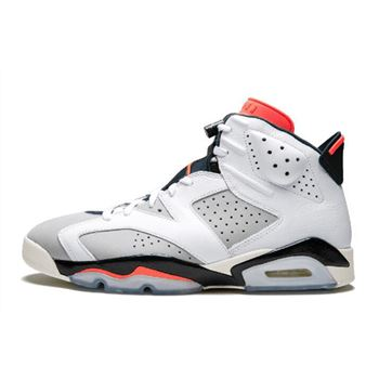 "Air Jordan 6 ""Tinker"" White/Infrared 23-Neutral Grey-Sail 384664-104"