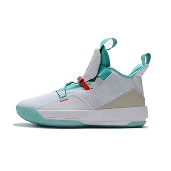 "Air Jordan 33 ""Guo Ailun"" PE White/Jade-Red AQ8830-101"