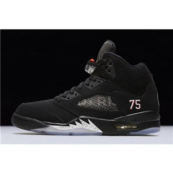 "Air Jordan 5 ""PSG"" Black/White-Challenge Red AV9175-001"