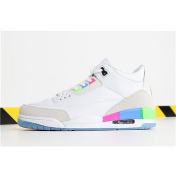 "Air Jordan 3 ""Quai 54"" White/Electric Green-Infrared 23-Black AT9195-111"