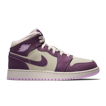 2018 Nike nike shoe with white strings on back on computer Mid GS Pro Purple/Desert Sand 555112-500