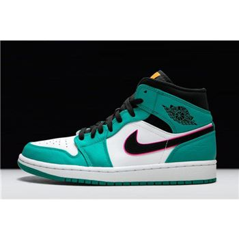 "Air Jordan 1 Mid SE ""South Beach"" Turbo Green/Black/Hyper Pink/Orange Peel 852542-306"