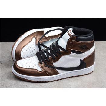 2019 Travis Scott x Air Jordan 1 High OG BronzeBlack White