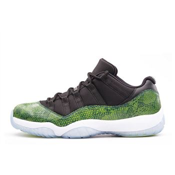 "Air Jordan 11 Retro Low ""Green Snakeskin"" Black/Nightshade-White-Volt Ice 528895-033"