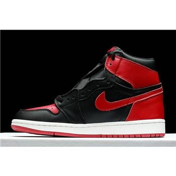 "2018 Air Jordan 1 High OG ""Banned"" Fleece Lined Black-Varsity Red-White"
