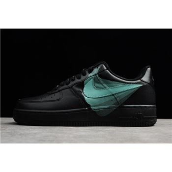 "Nike Air Force 1 '07 ""Noir"" Black/Green 315122-001"