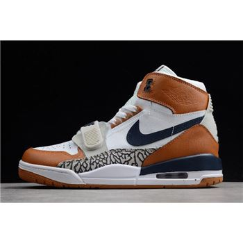 "Just Don x Jordan Legacy 312 ""Medicine Ball"" White/Midnight Navy-Ginger AQ4160-140"