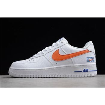 "Nike Air Force 1 Low ""NYC"" White/Orange-Blue 722241-844"