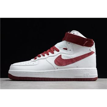 Nike Air Force 1 High Retro QS Summit White/Team Red 743546-106